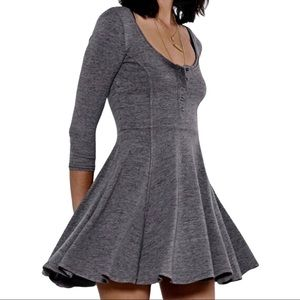 BDG by URBAN OUTFITTERS | Gray Boho Skater Dress